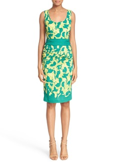 Tracy Reese Print Stretch Silk Sheath Dress