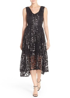 Tracy Reese Sequin Lace Fit & Flare Dress