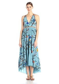 Tracy Reese Women's Tiered Halter Maxi Dress